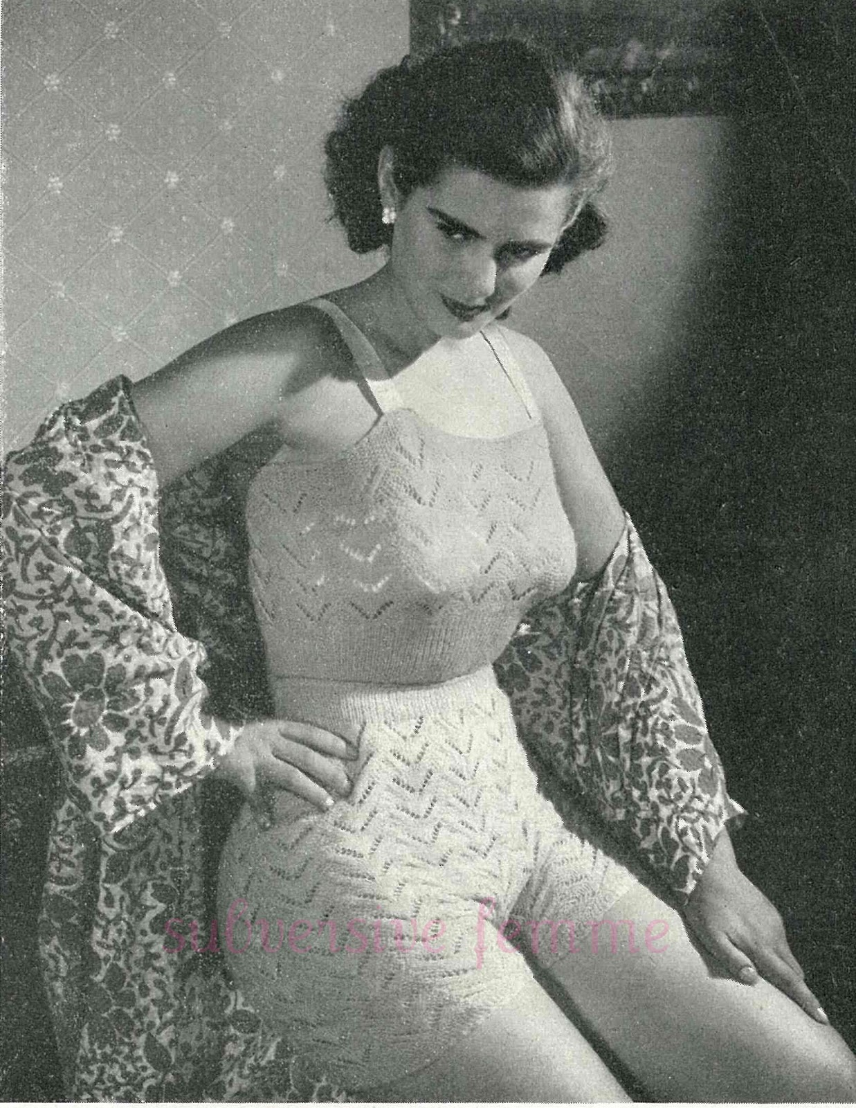 Knitted Vest And Panties C 1950s Subversive Femme