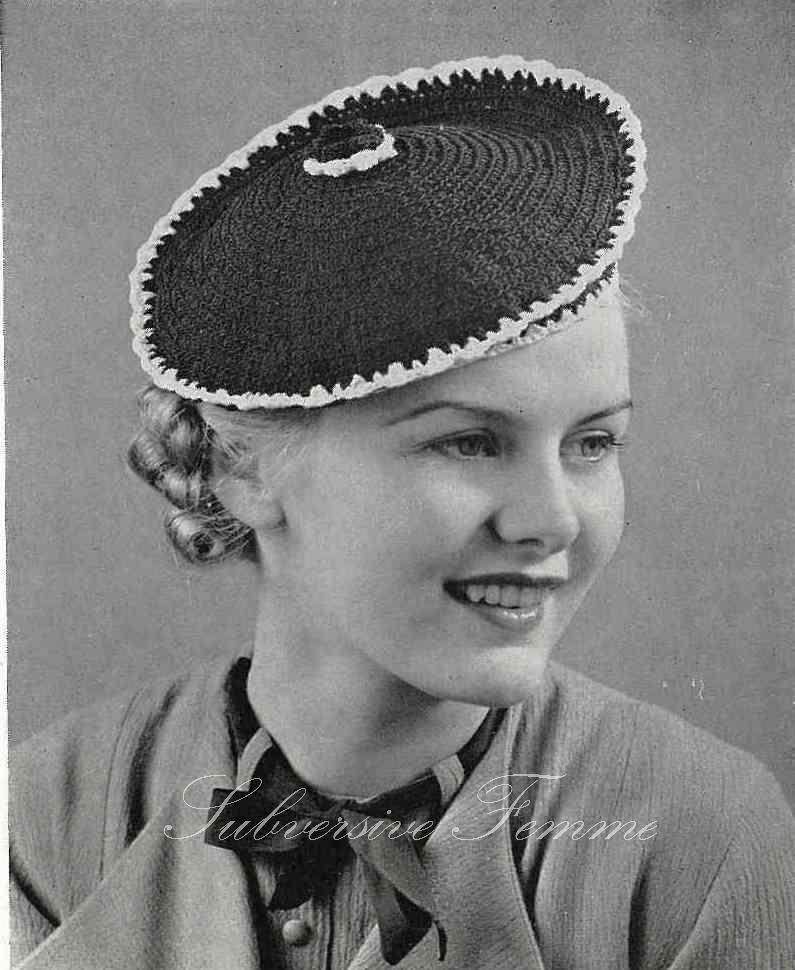 free crochet vintage pattern