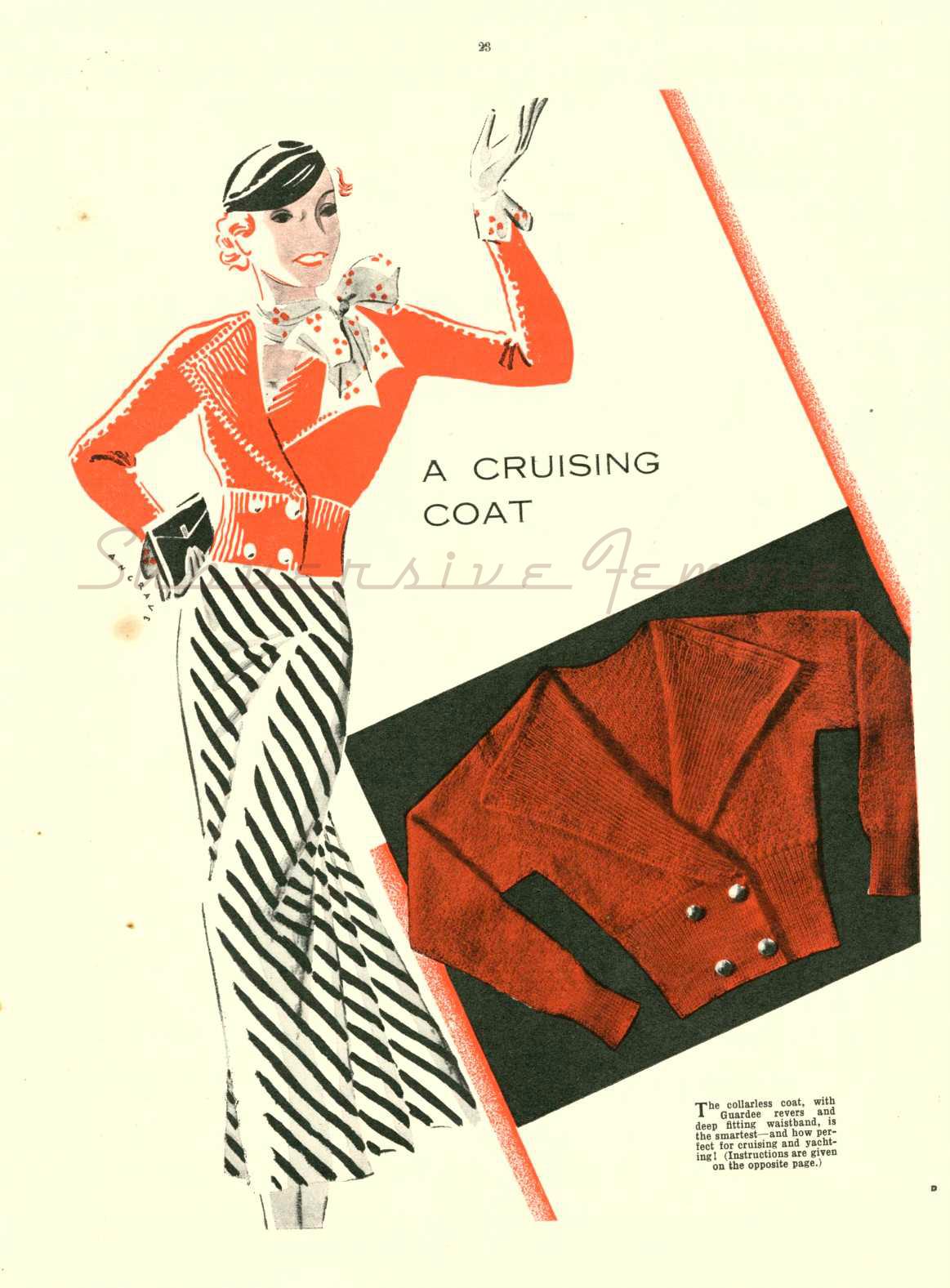 1930s free knitting pattern sailor