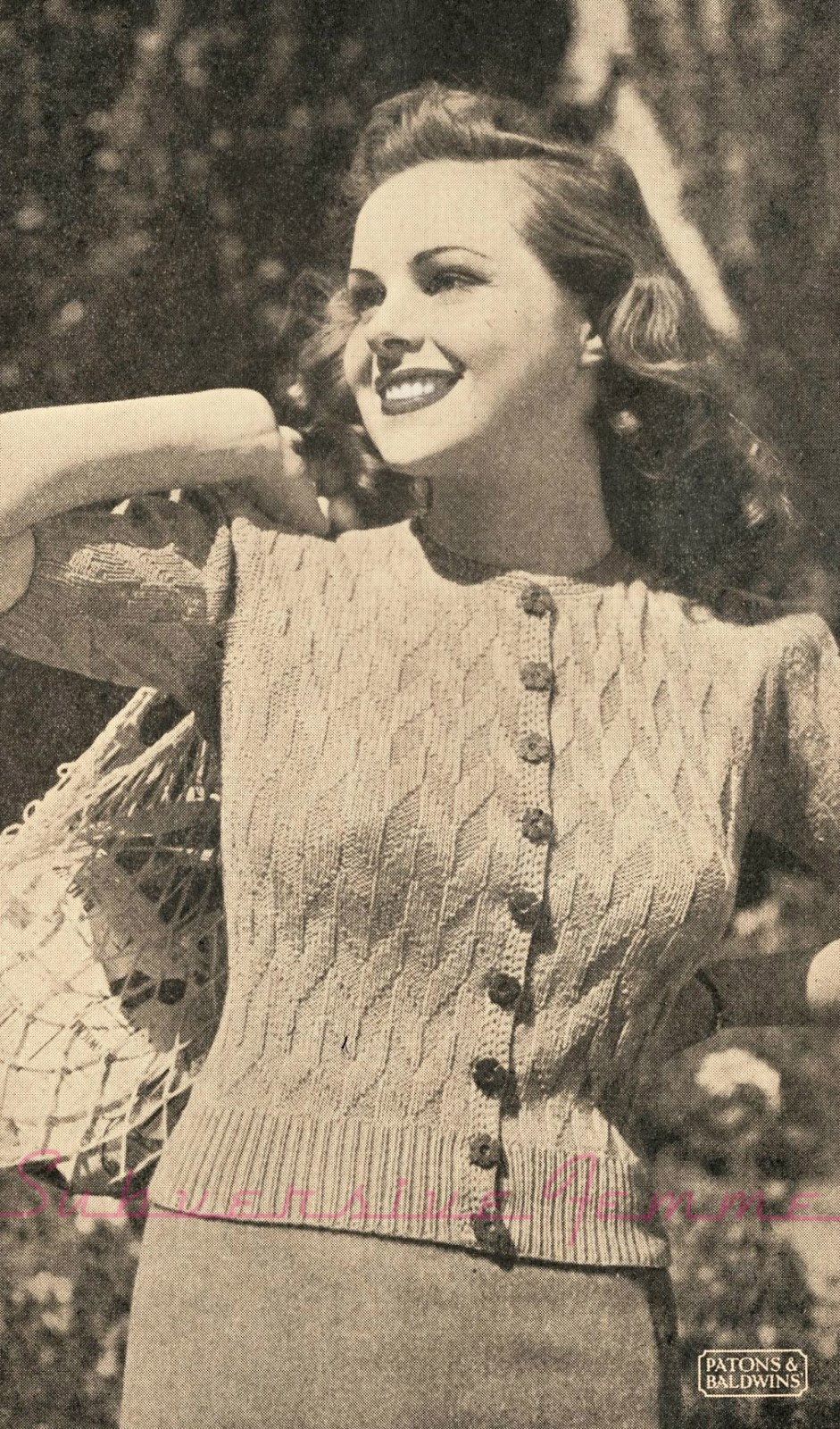 1940s knitting pattern free sweater