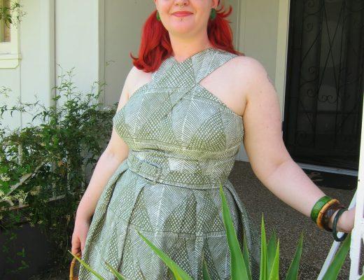 1950s tiki dress shaheen sewing pattern