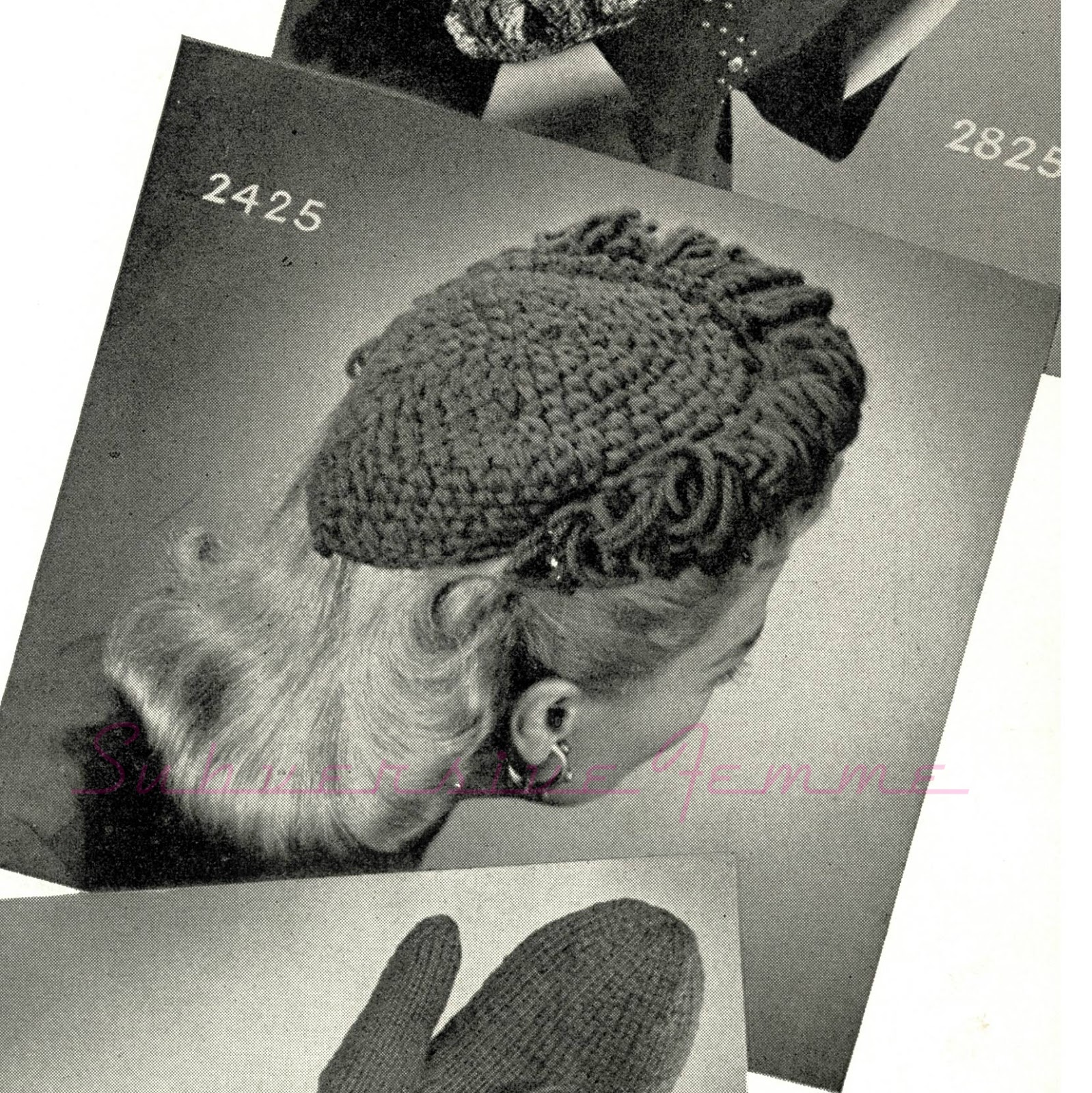 Free Crochet Patterns For Vintage Hats : Free vintage crochet pattern: 1940s Fantastic Frilled Hat ...