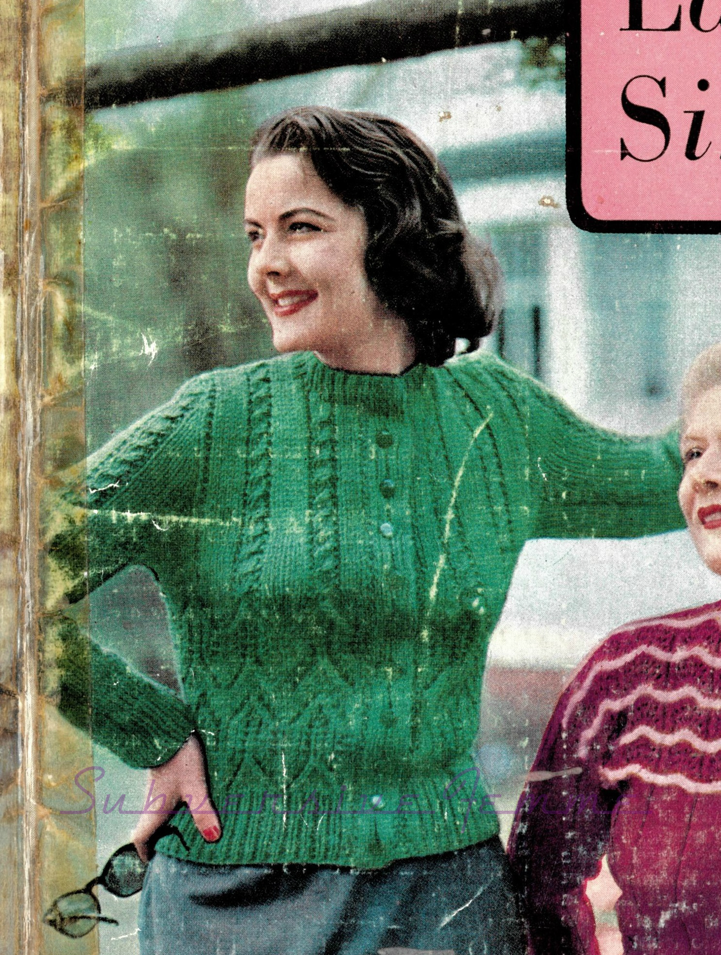 Curvy Month Pattern 9: Quick-to-Knit cardigan, c. 1950s – Subversive ...