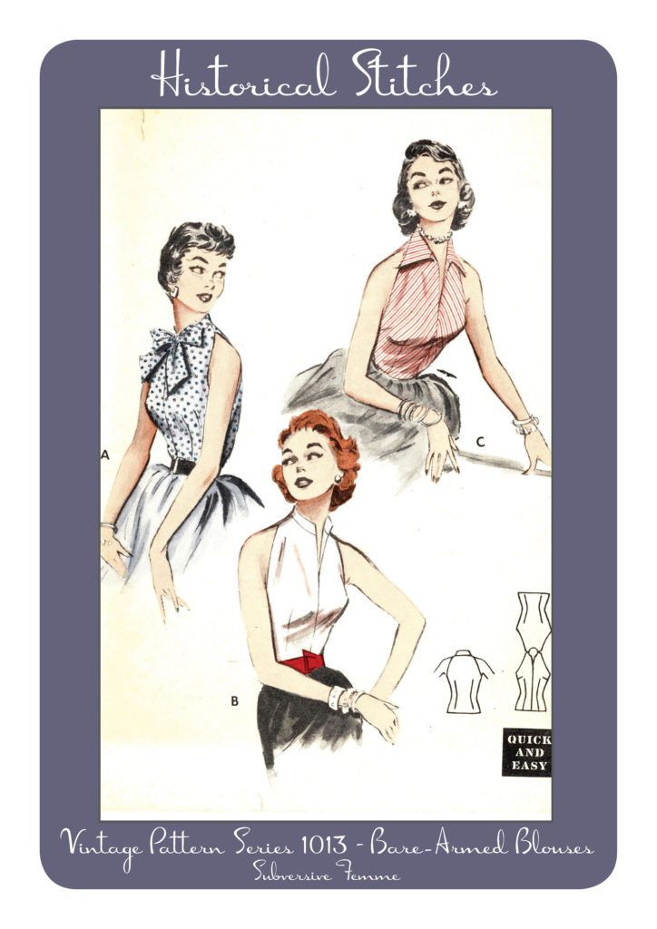 butterick 6965 vintage sewing pattern patterns 1950s