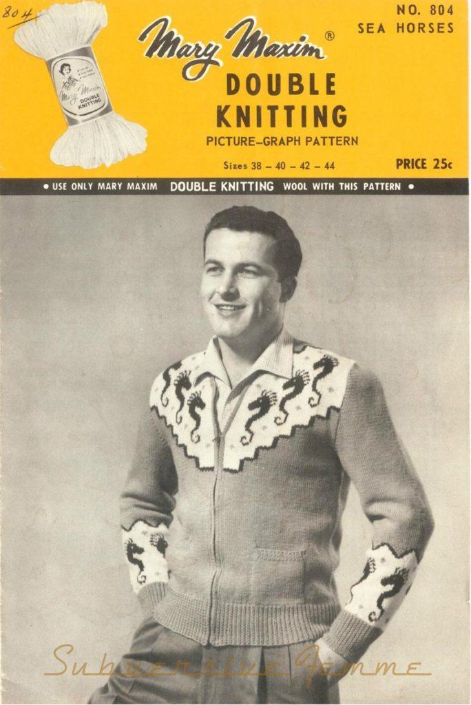 mary maxim seahorse sweater