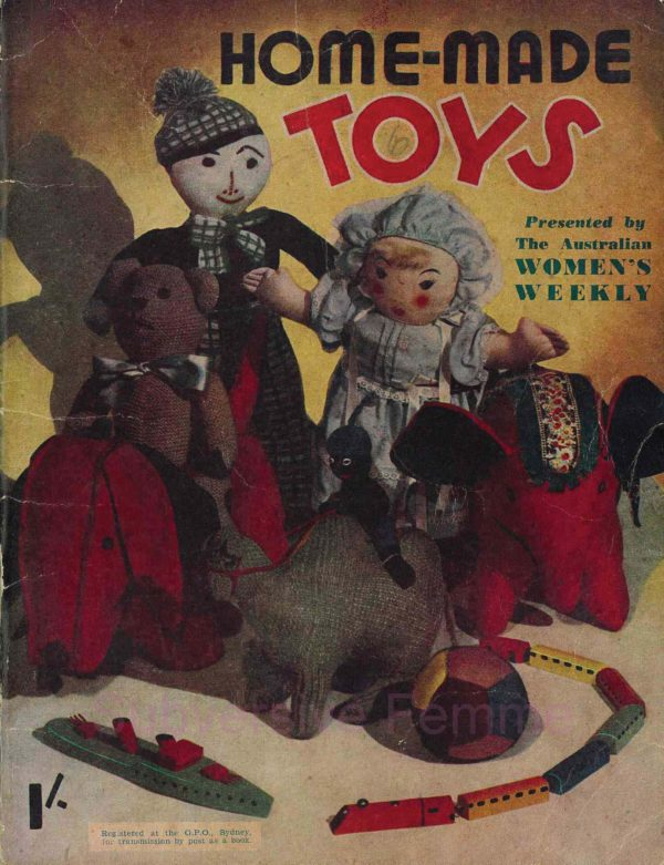 the australian womens weekly home-made toys 1940s knitting patterns