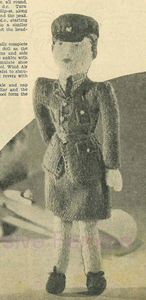 sailor vintage knitting pattern toy