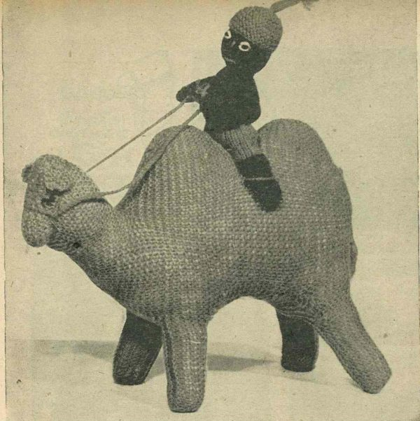vintage knitting pattern toy