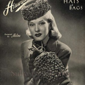 millinery patterns hat making 1940s crochet knitting