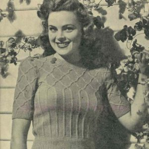 trellis yoked jumper lincoln mills L923 vintage knitting pattern