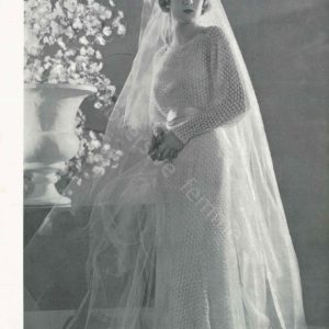 1930s knitted vintage wedding dress pattern