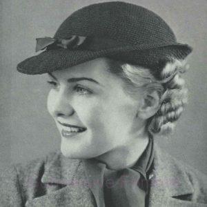 crochet hat pattern vintage pattern knitting 1940s 1930s