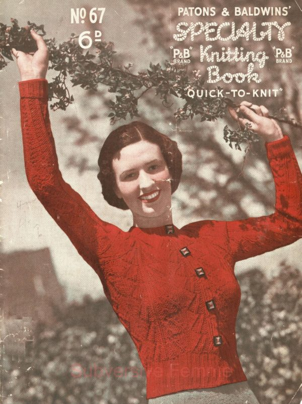 1930s knitting patterns patons and baldwins free