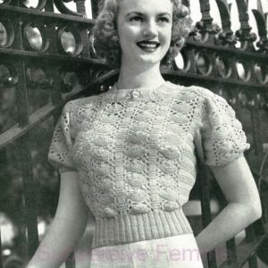 lace knitting pattern 1940s vintage patterns patons