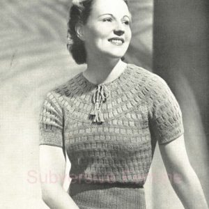 1930s vintage knitting pattern free patons and baldwins