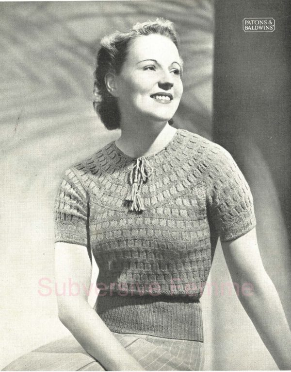 1930s vintage knitting pattern free patons and baldwins