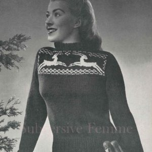 gazelle vintage knitting pattern antelopes