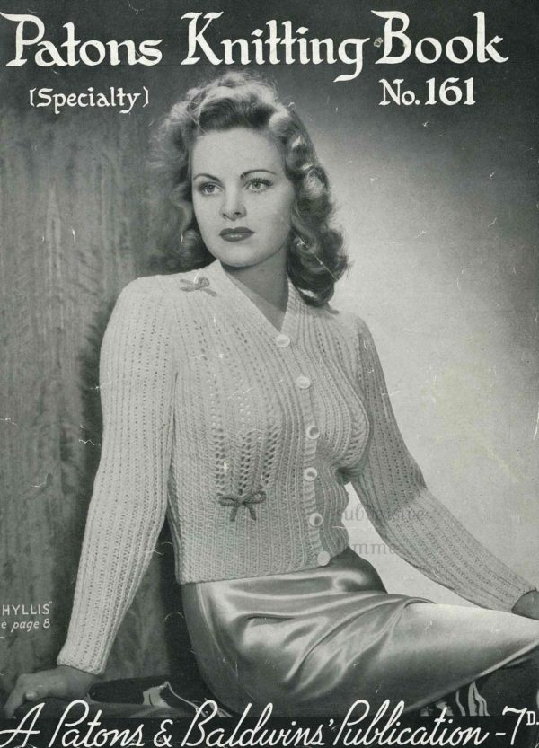 patons phyllis bed jacket pattern