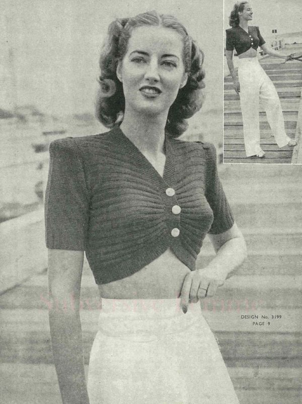 sun-glo vintage knitting patterns noreaster rockabilly 1940s