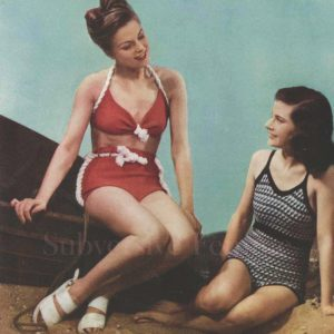 knitted swimsuit stitchcraft magazine 1947