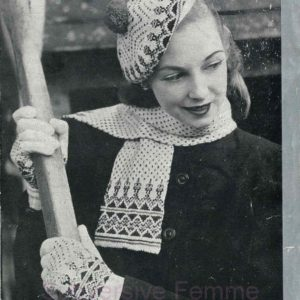 patons 245 fairisle knitting pattern vintage