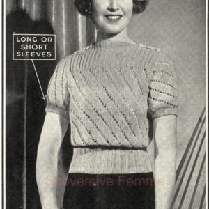 gilda 1930s lace knitting pattern jumper sweater top