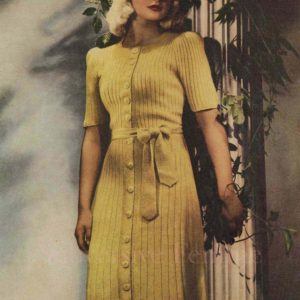 wattle gold knitted dress pattern 1940s