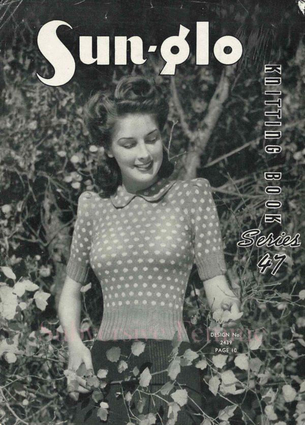 1940s sweater vintage knitting patterns