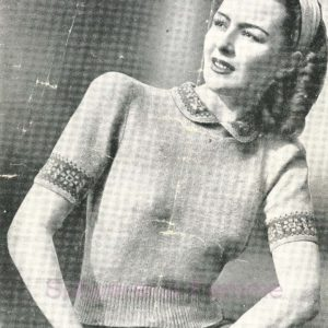 Sirdar 1720 vintage knitting patterns jumper 1940s sweater