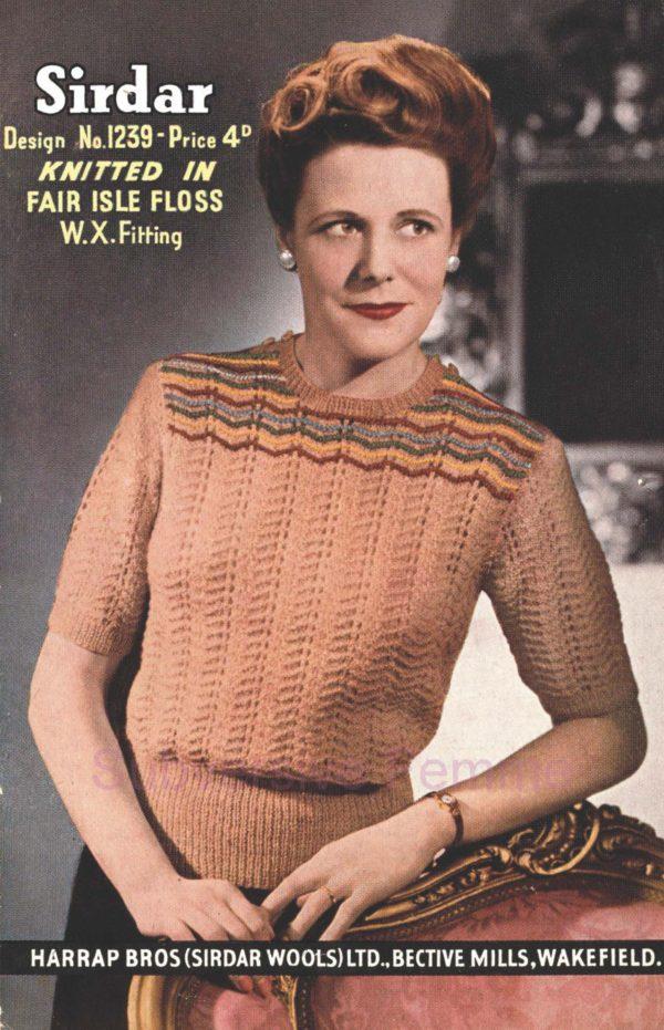 sirdar 1239 vintage knitting patterns pattern 1940s
