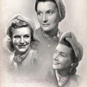 turban knitting pattern vintage patons 3814