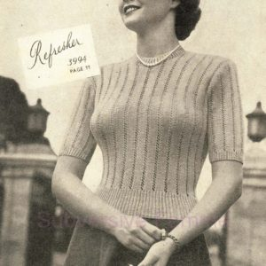 sunglo matrons knitting pattern refresher jumper sweater vintage