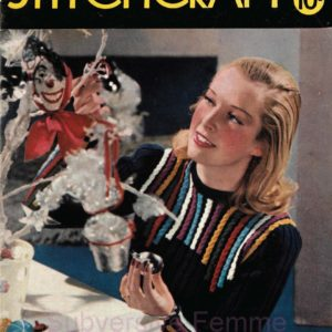 cabled jumper 1940s vintage knitting pattern stitchcraft magazine 100