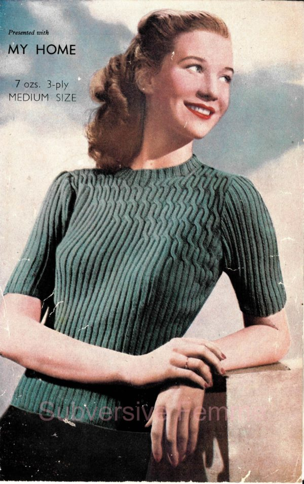 attractive floating cables knitting pattern