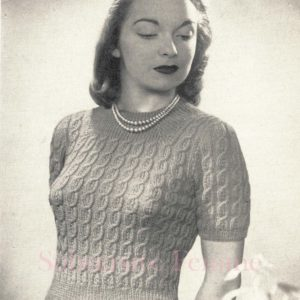1940s cabled jumper vintage reproductions knitting patterns vintage
