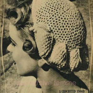 vintage snood knitting pattern
