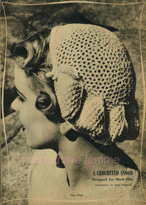 vintage snood knitting pattern