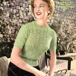 sirdar 1468 green sweater jumper knitting pattern