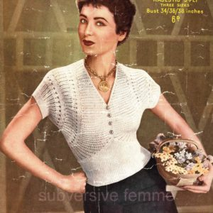 sirdar 1401 vintage knitting pattern lace jumper