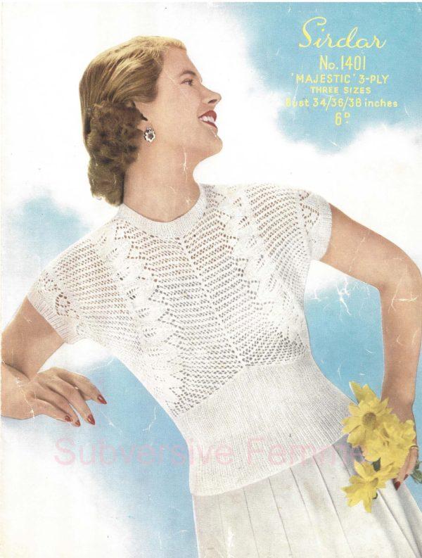 sirdar 1401 vintage knitting pattern