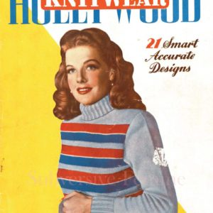 hollywood vintage knits knitting pattern 1940s judy garland