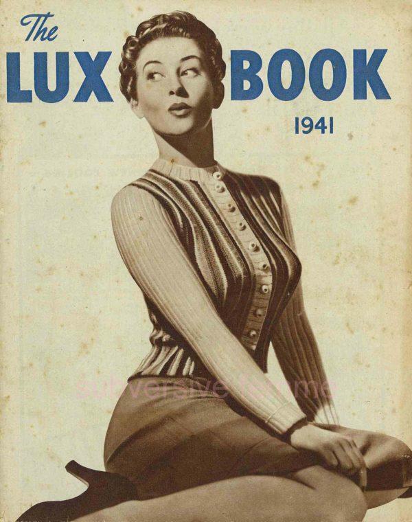 lux knitting book 1941 vintage knitting patterns