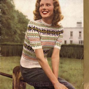 patons 262 fairisle vintage knitting patterns