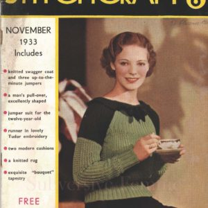 stitchcraft magazine 1933 vintage knitting patterns 1930s
