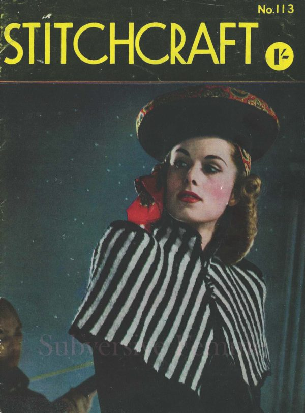 stitchcraft magazine January 1942 vintage knitting patterns