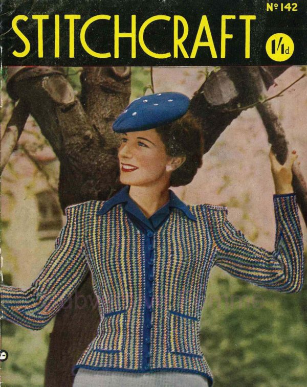stitchcraft magazine 1944 may vintage knitting patterns