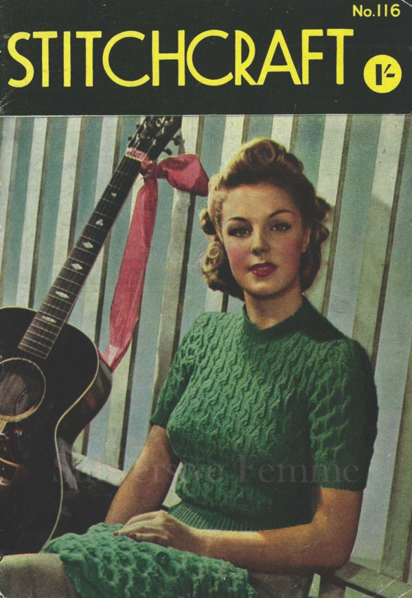stitchcraft magazine april 1942 no 116 vintage knitting patterns