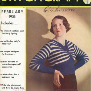 1933 stitchcraft knitting magazine february feb vintage knitting patterns uk