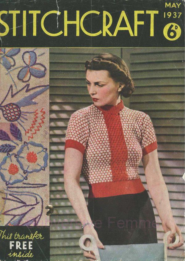 stitchcraft magazine may 1937 vintage knitting patterns