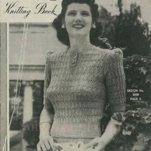 sun-glo knitting series vintage knitting patterns 1940s